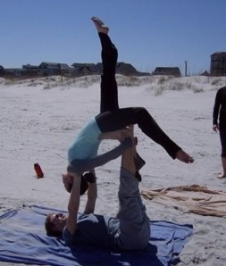 Some acre yoga during our teacher training on Wrightsville beach.