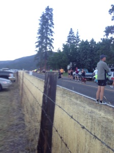 The marathoners take off
